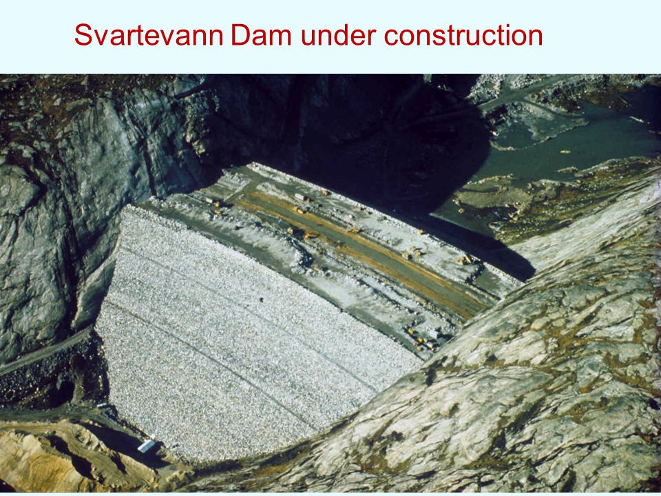 Svartevann Dam under construction