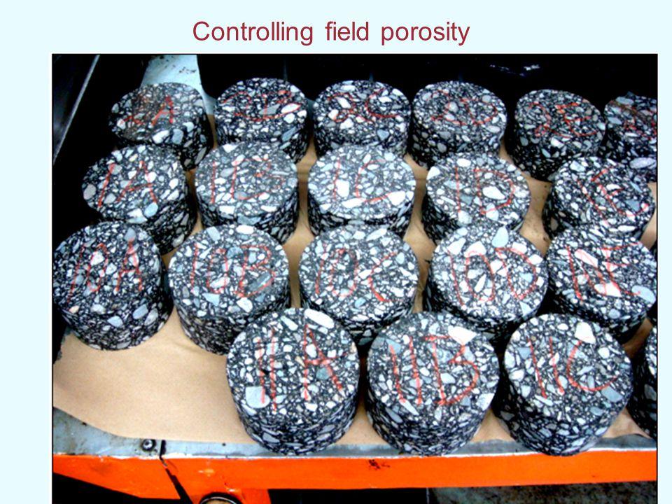 Controlling field porosity