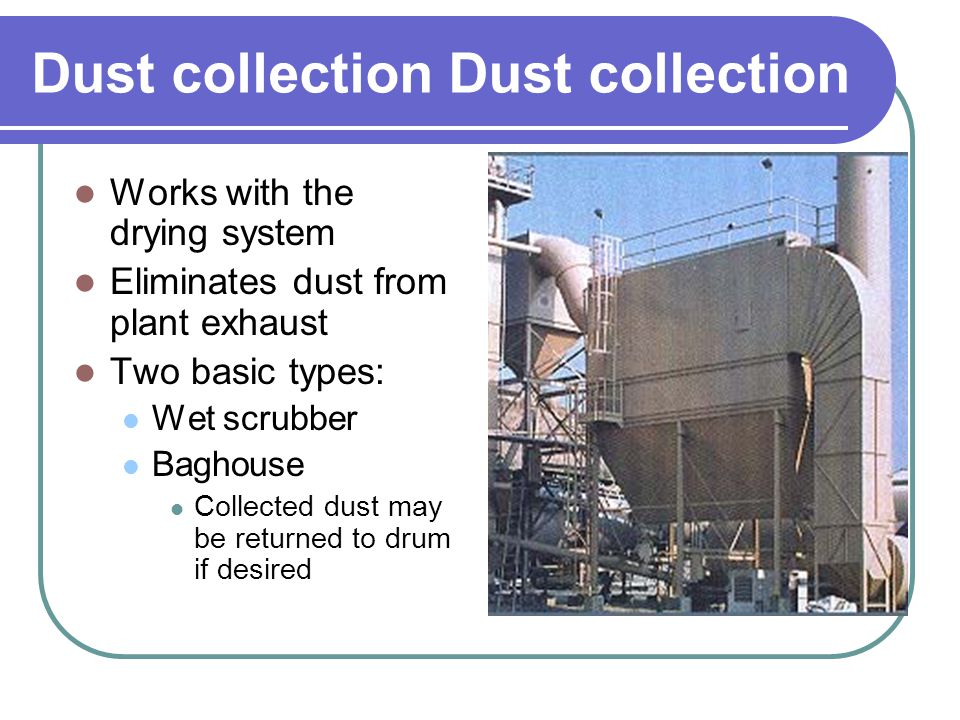 Dust collection Dust collection