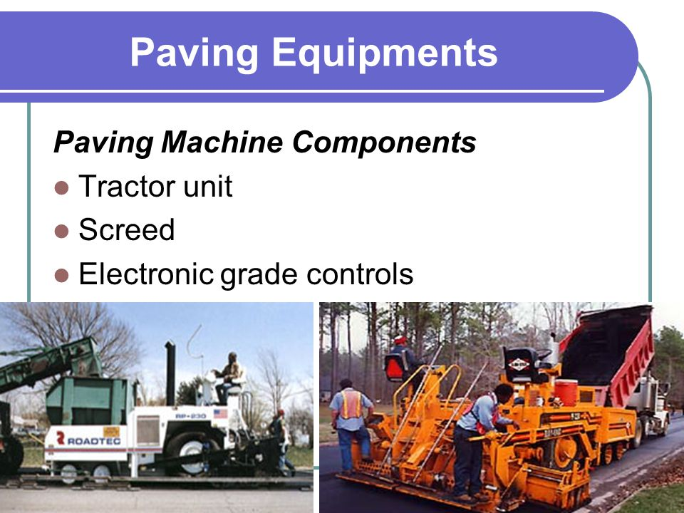 Paving Equipments Paving Machine Components Tractor unit Screed