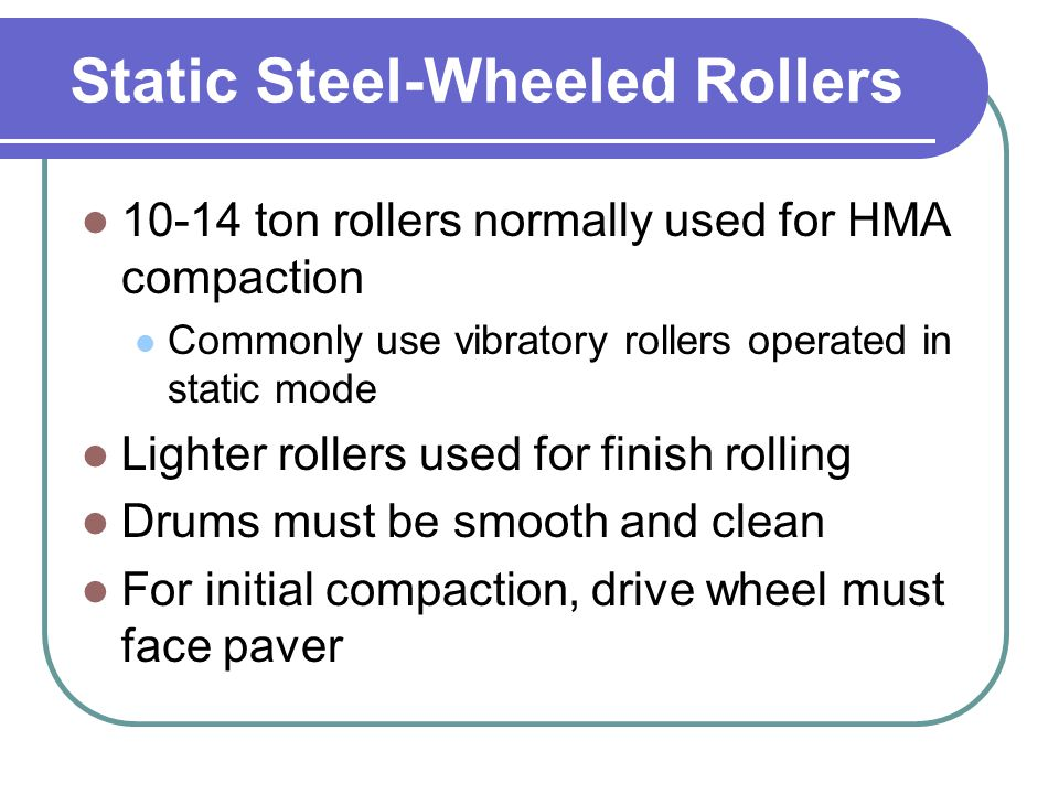 Static Steel-Wheeled Rollers