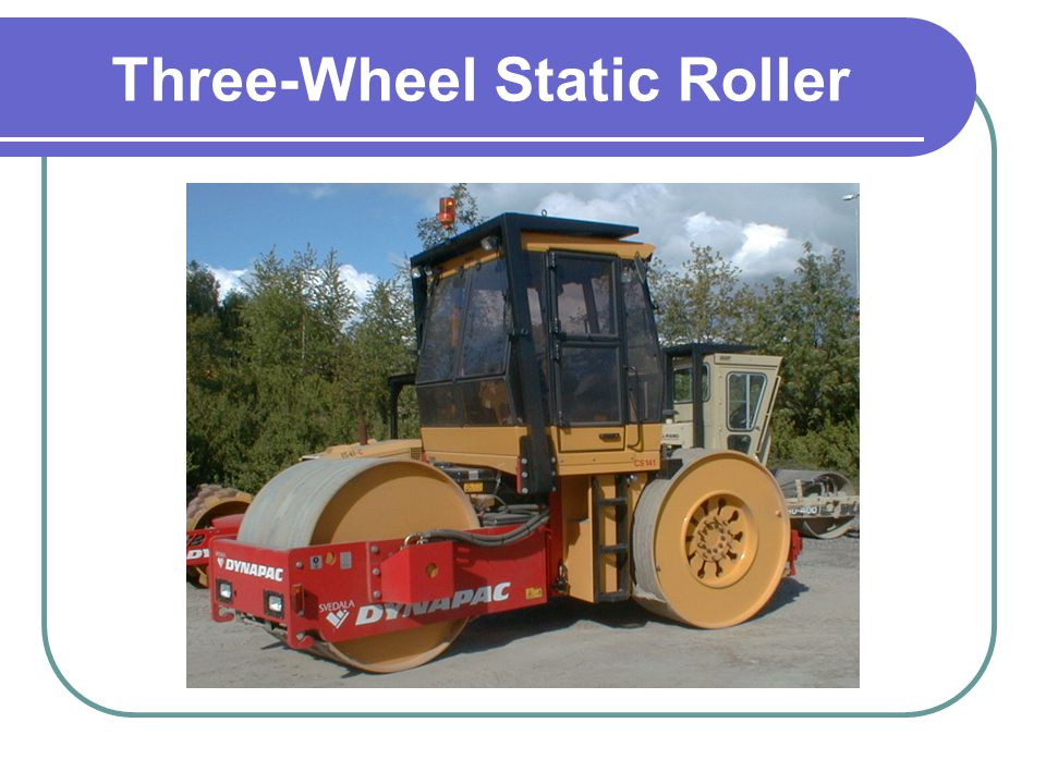 Three-Wheel Static Roller