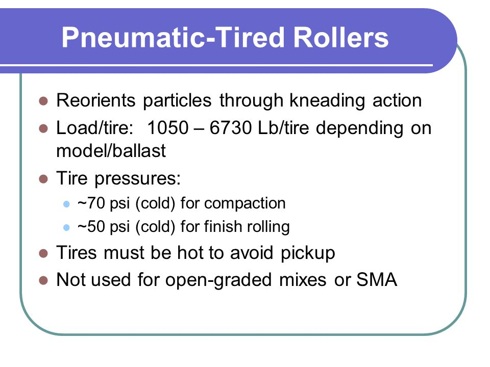 Pneumatic-Tired Rollers