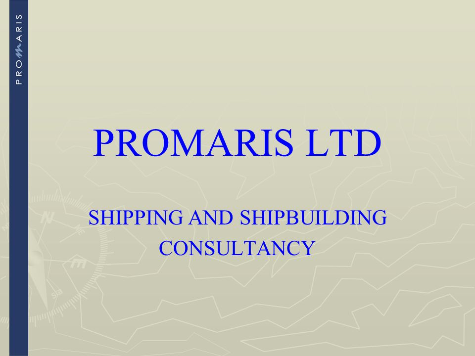 SHIPPING AND SHIPBUILDING CONSULTANCY