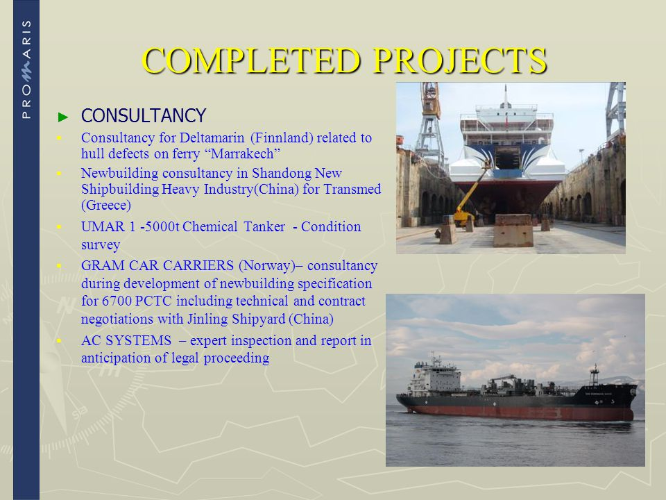 COMPLETED PROJECTS CONSULTANCY