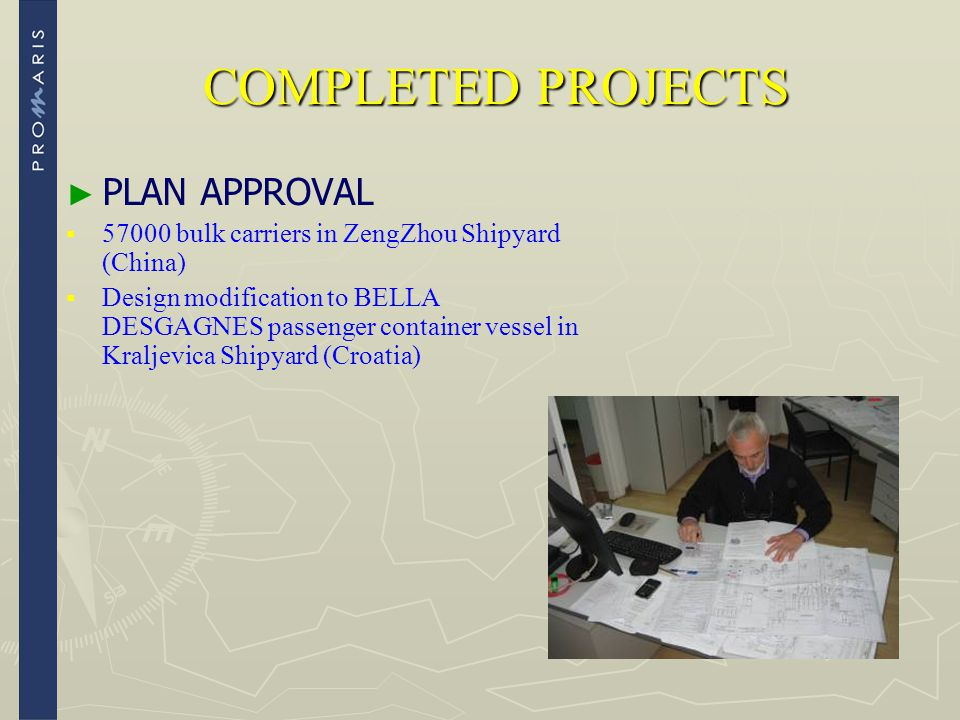 COMPLETED PROJECTS PLAN APPROVAL