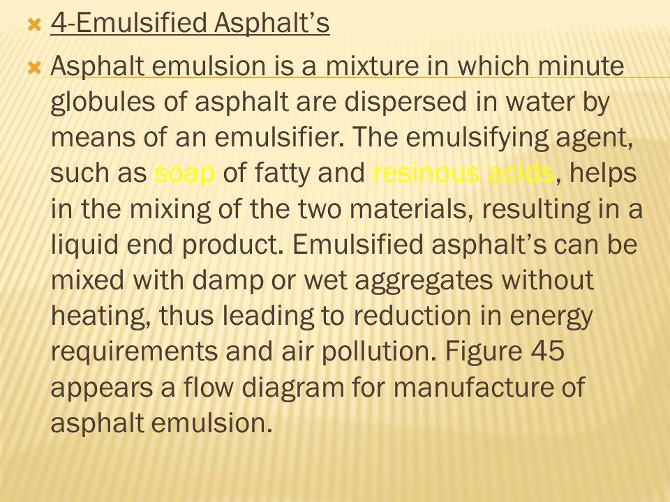 4-Emulsified Asphalt's