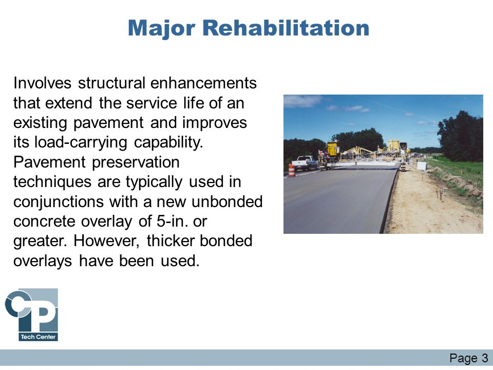 Major Rehabilitation
