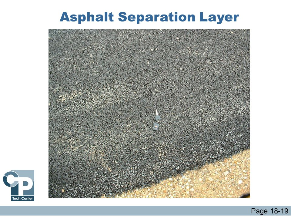 Asphalt Separation Layer