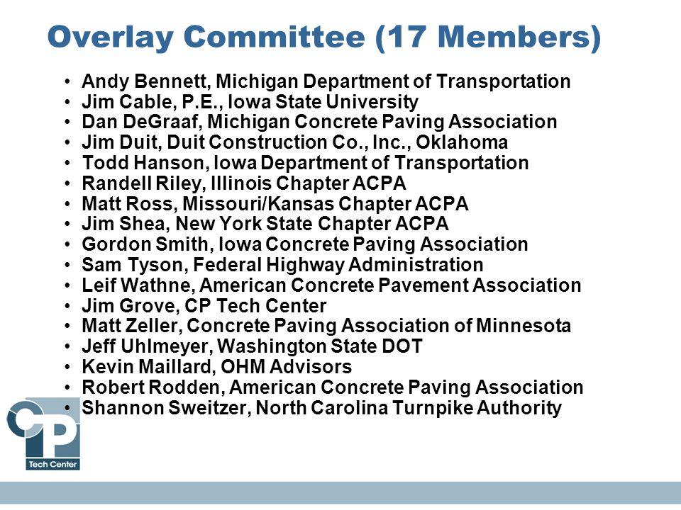 Overlay Committee (17 Members)