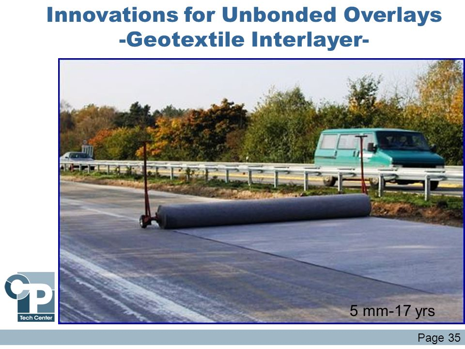 Innovations for Unbonded Overlays -Geotextile Interlayer-