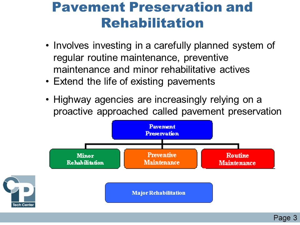 Pavement Preservation and Rehabilitation