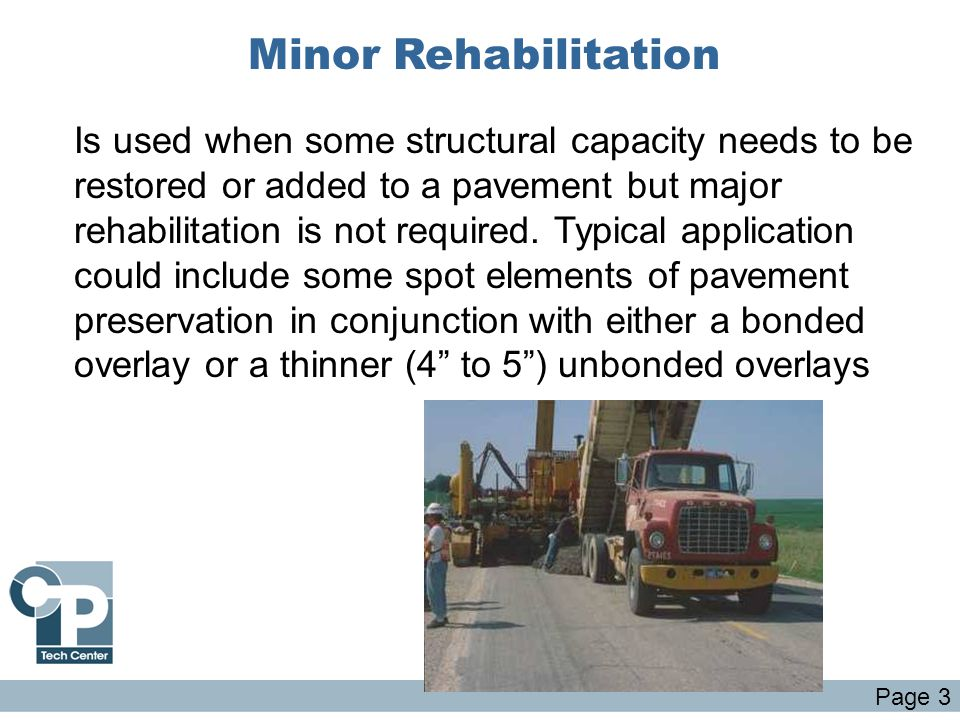 Minor Rehabilitation