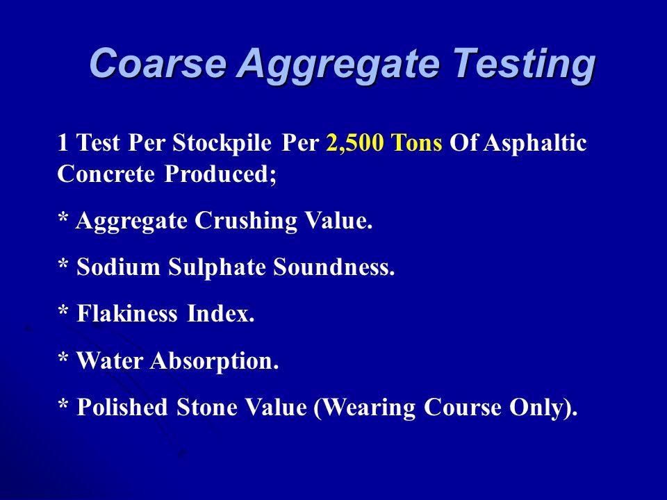 Coarse Aggregate Testing