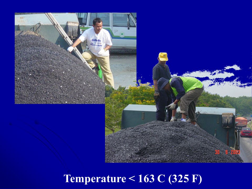 Temperature < 163 C (325 F)