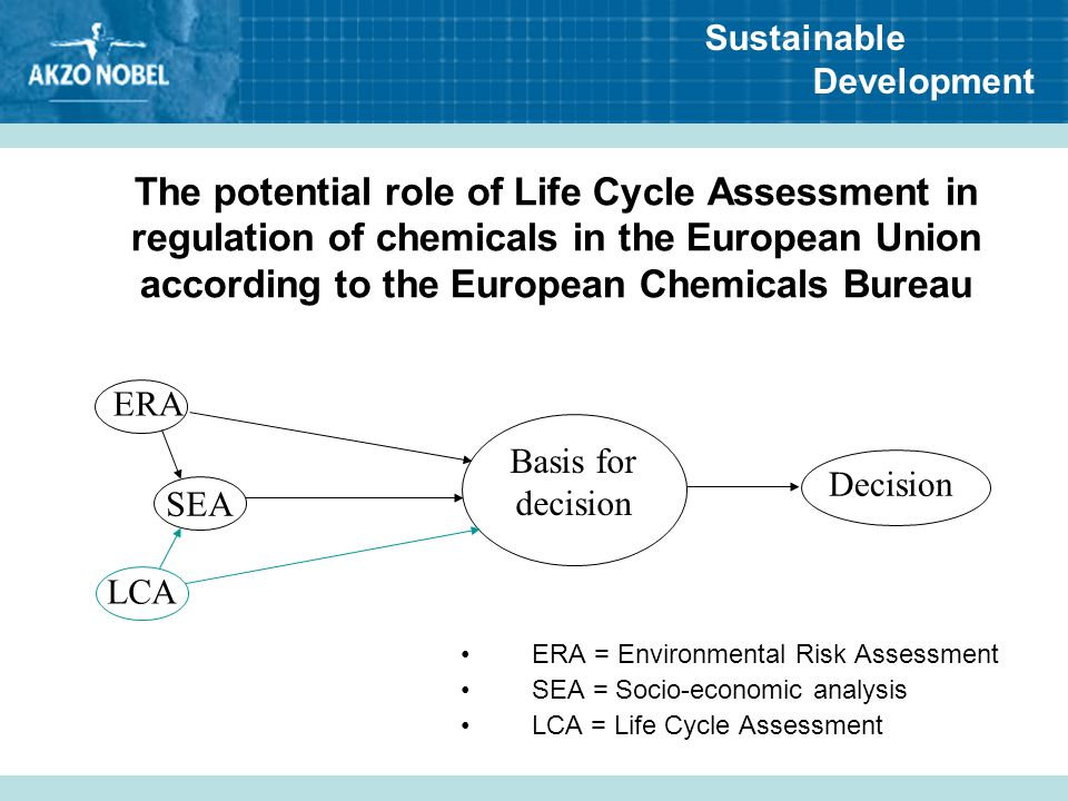 The potential role of Life Cycle Assessment in regulation of chemicals in the European Union according to the European Chemicals Bureau