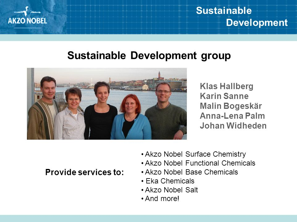 Sustainable Development group