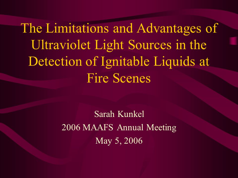 Sarah Kunkel 2006 MAAFS Annual Meeting May 5, 2006