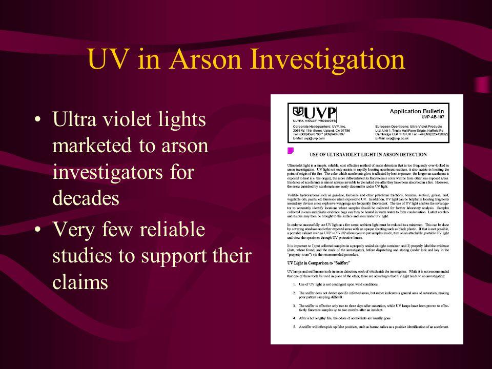 UV in Arson Investigation