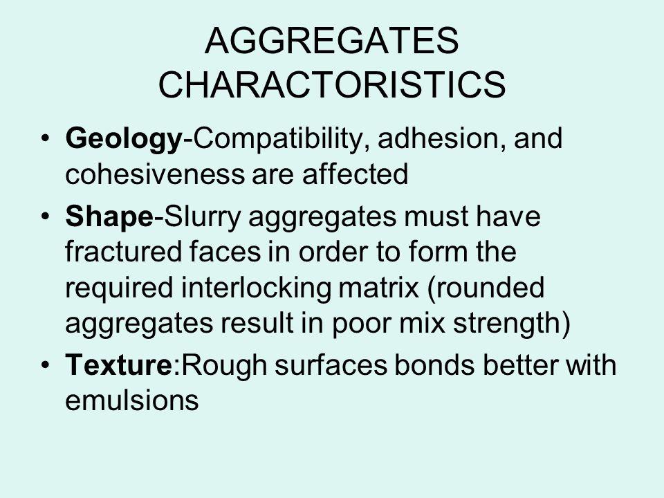 AGGREGATES CHARACTORISTICS