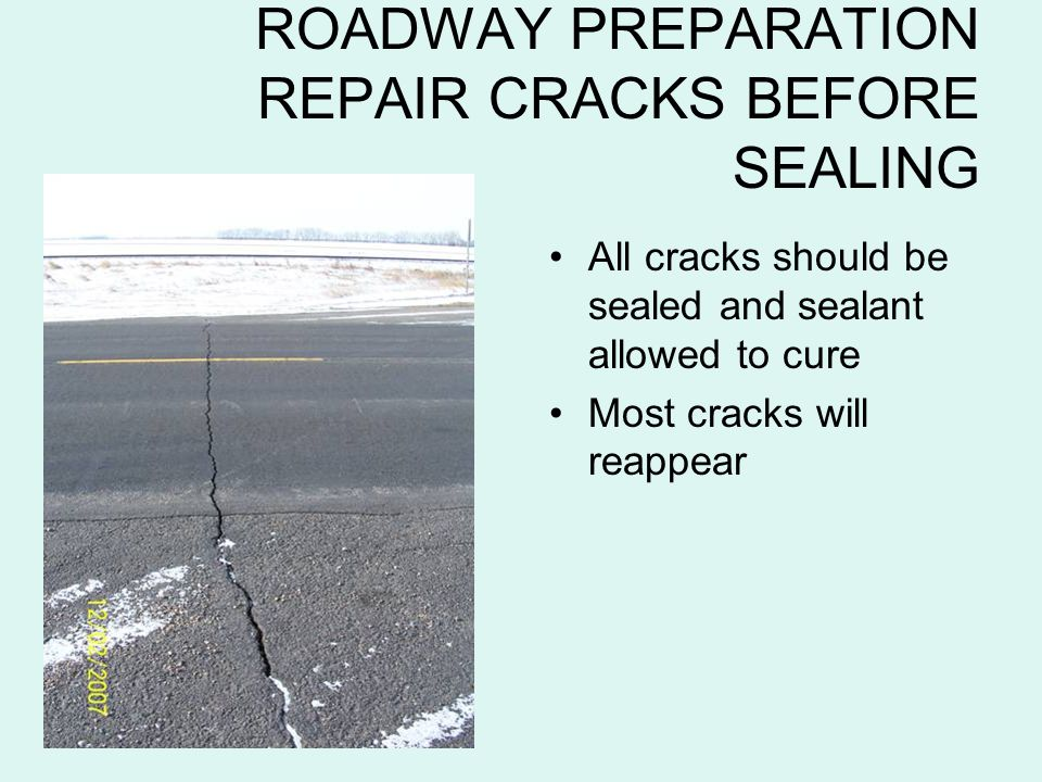 ROADWAY PREPARATION REPAIR CRACKS BEFORE SEALING