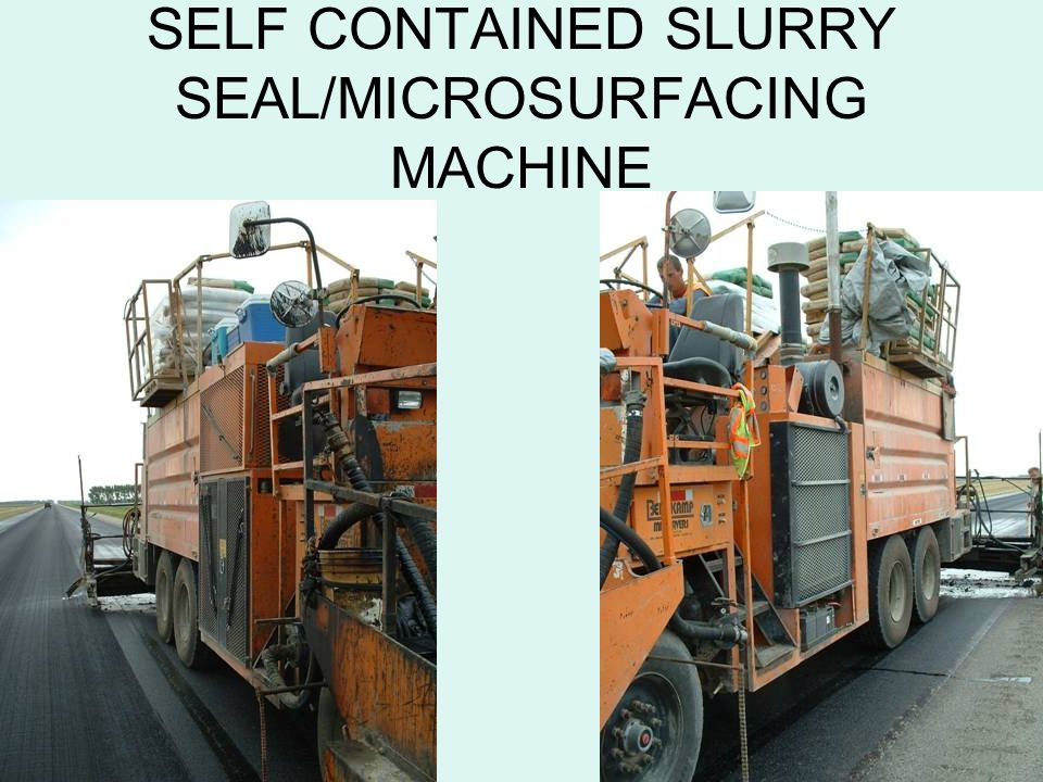 SELF CONTAINED SLURRY SEAL/MICROSURFACING MACHINE