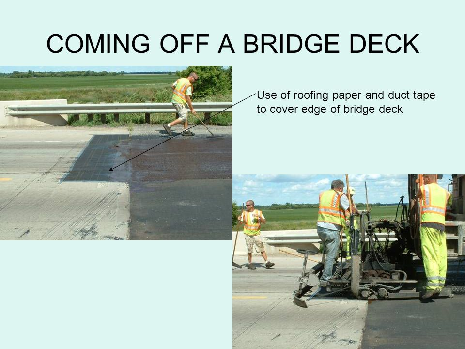 COMING OFF A BRIDGE DECK