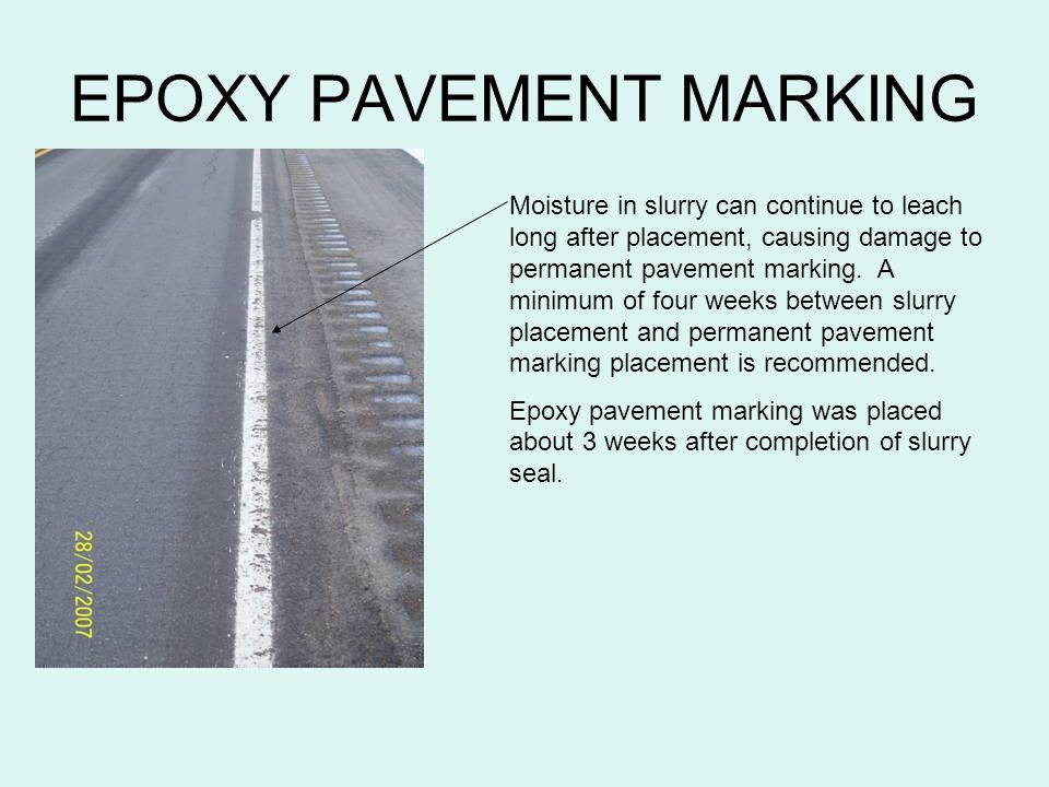 EPOXY PAVEMENT MARKING