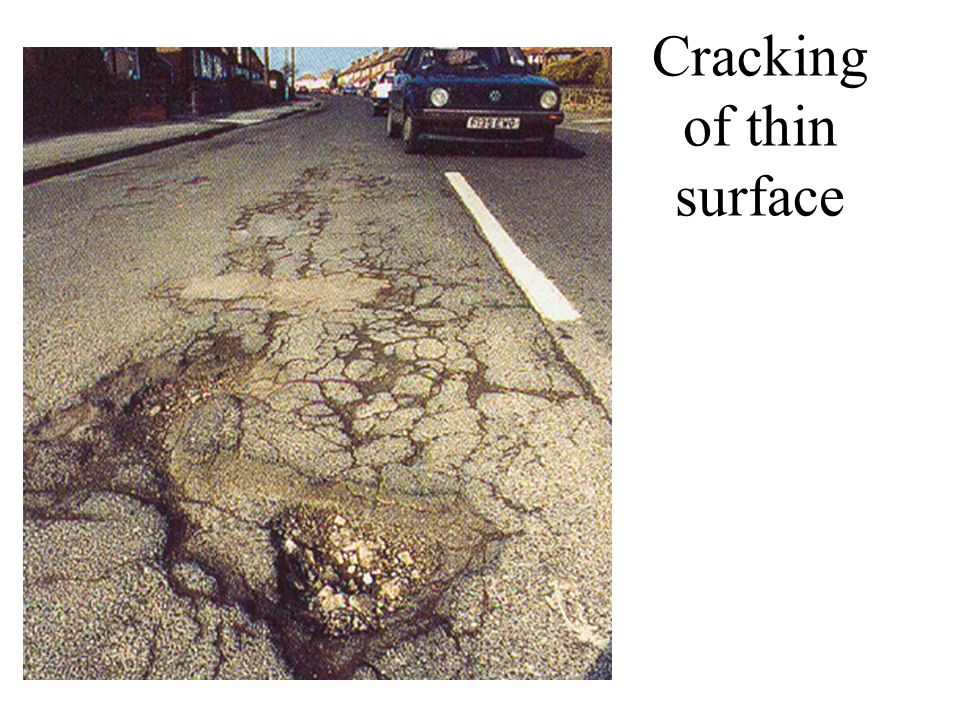 Cracking of thin surface