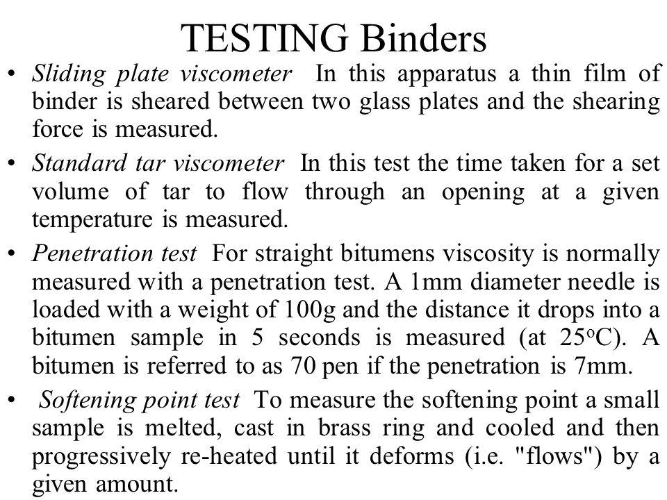 TESTING Binders