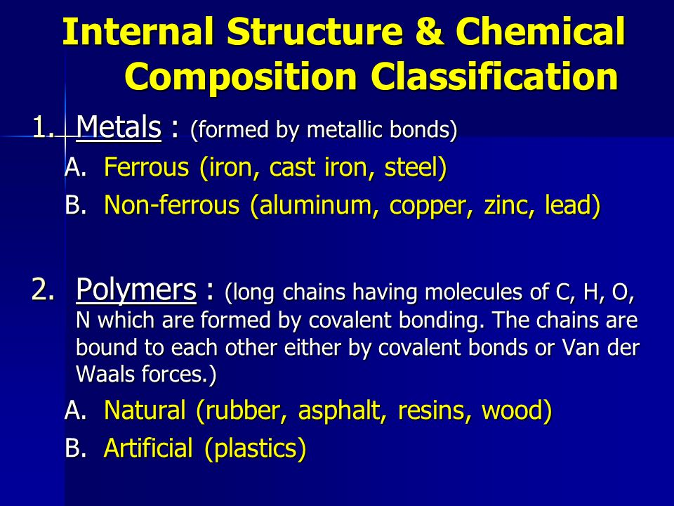 Internal Structure & Chemical Composition Classification