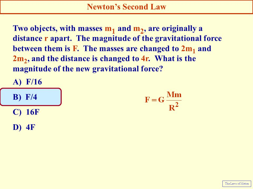Two objects, with masses m1 and m2, are originally a