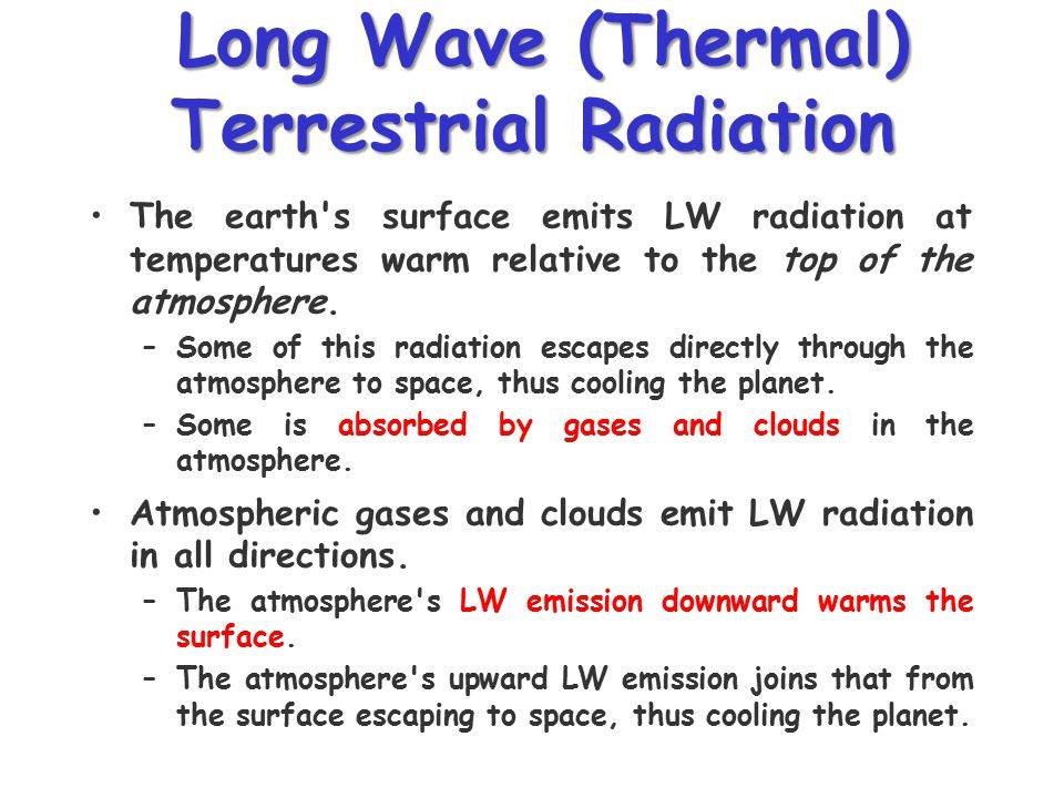 Long Wave (Thermal) Terrestrial Radiation