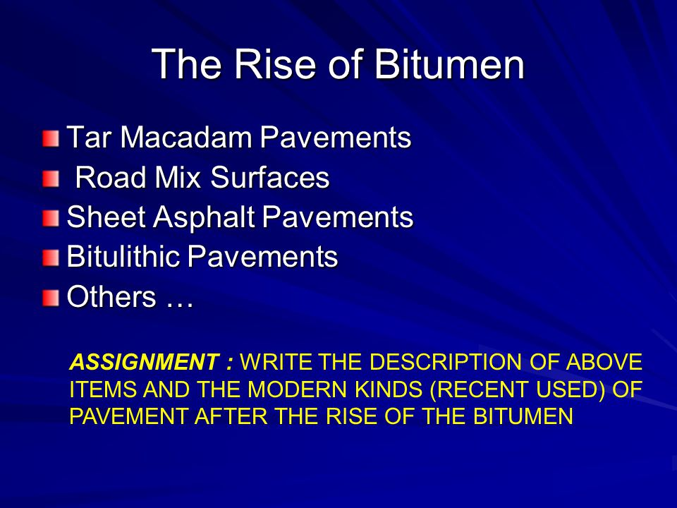 The Rise of Bitumen Tar Macadam Pavements Road Mix Surfaces