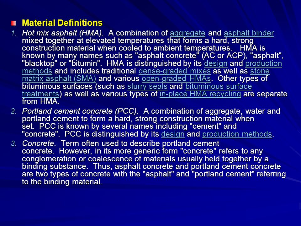 Material Definitions