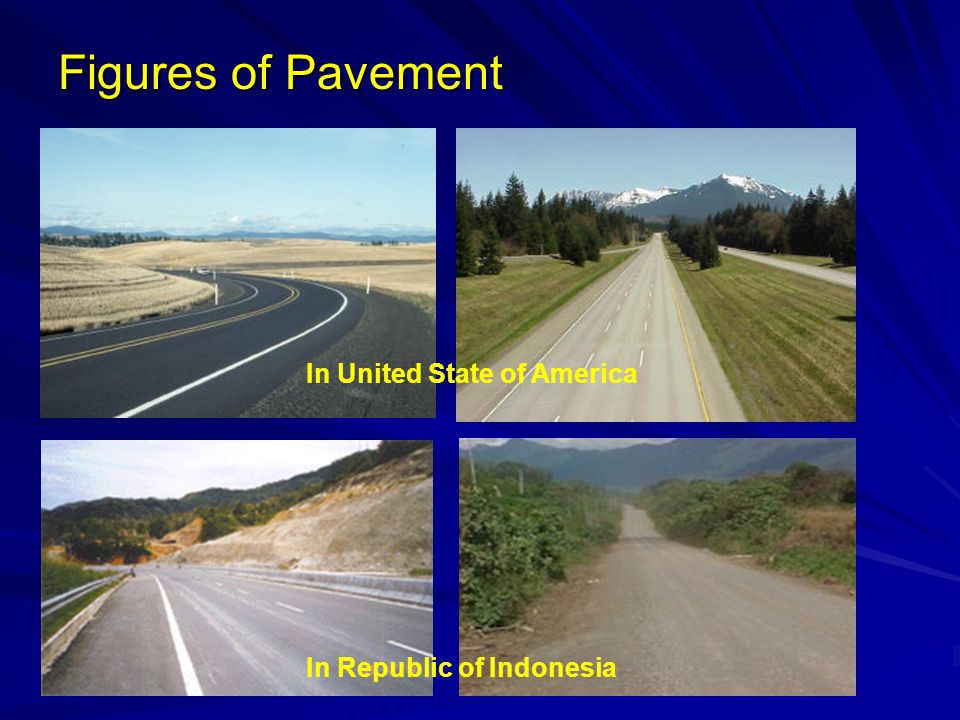 Figures of Pavement In United State of America