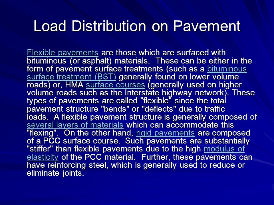 Load Distribution on Pavement