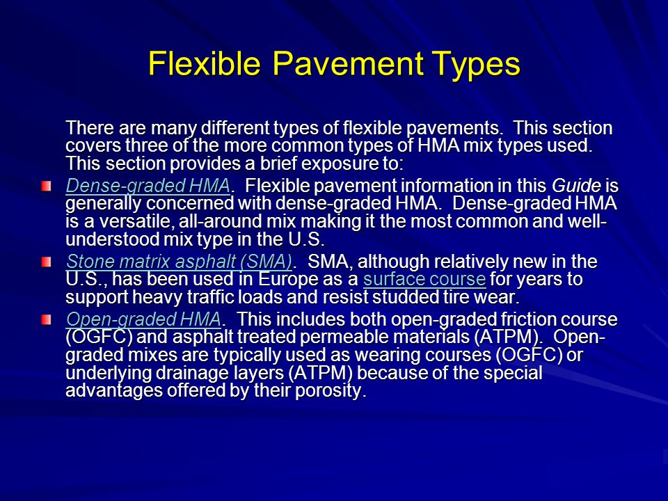 Flexible Pavement Types