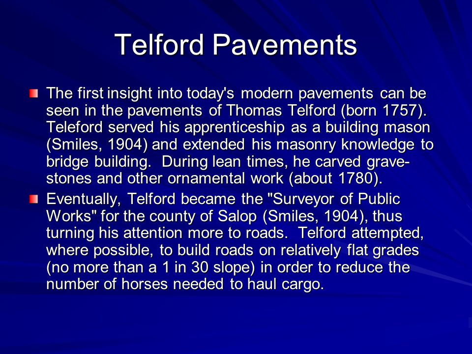 Telford Pavements