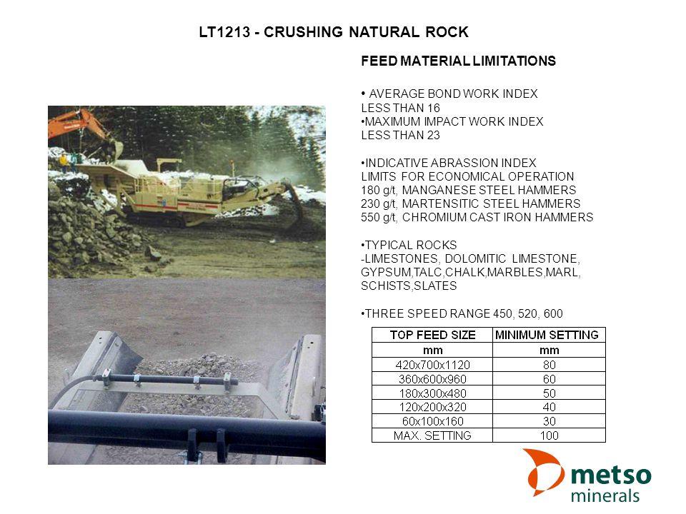 LT1213 - CRUSHING NATURAL ROCK