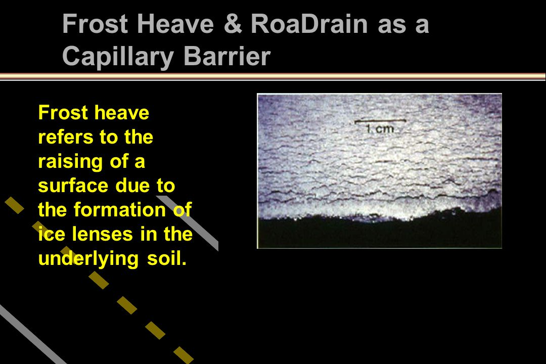 Frost Heave & RoaDrain as a Capillary Barrier