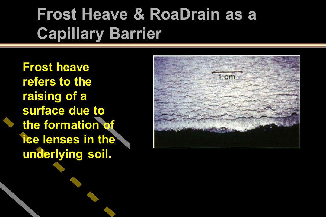 Frost Heave & RoaDrain as a Capillary Barrier