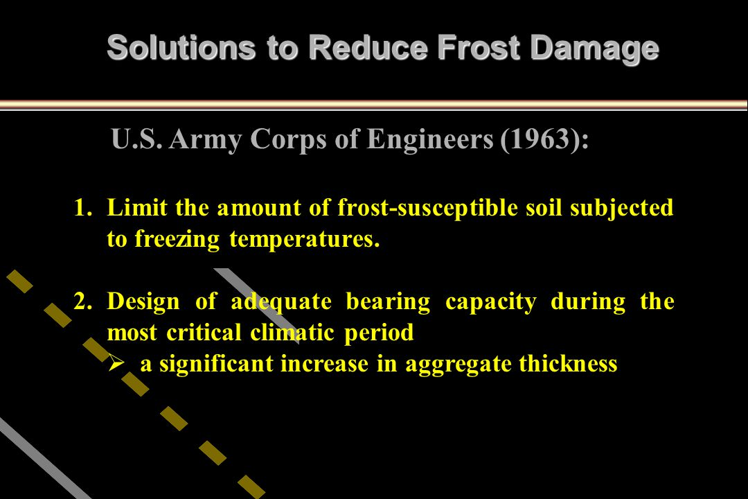 Solutions to Reduce Frost Damage