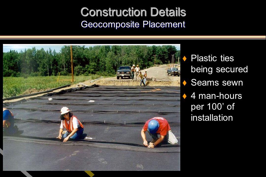 Construction Details Geocomposite Placement
