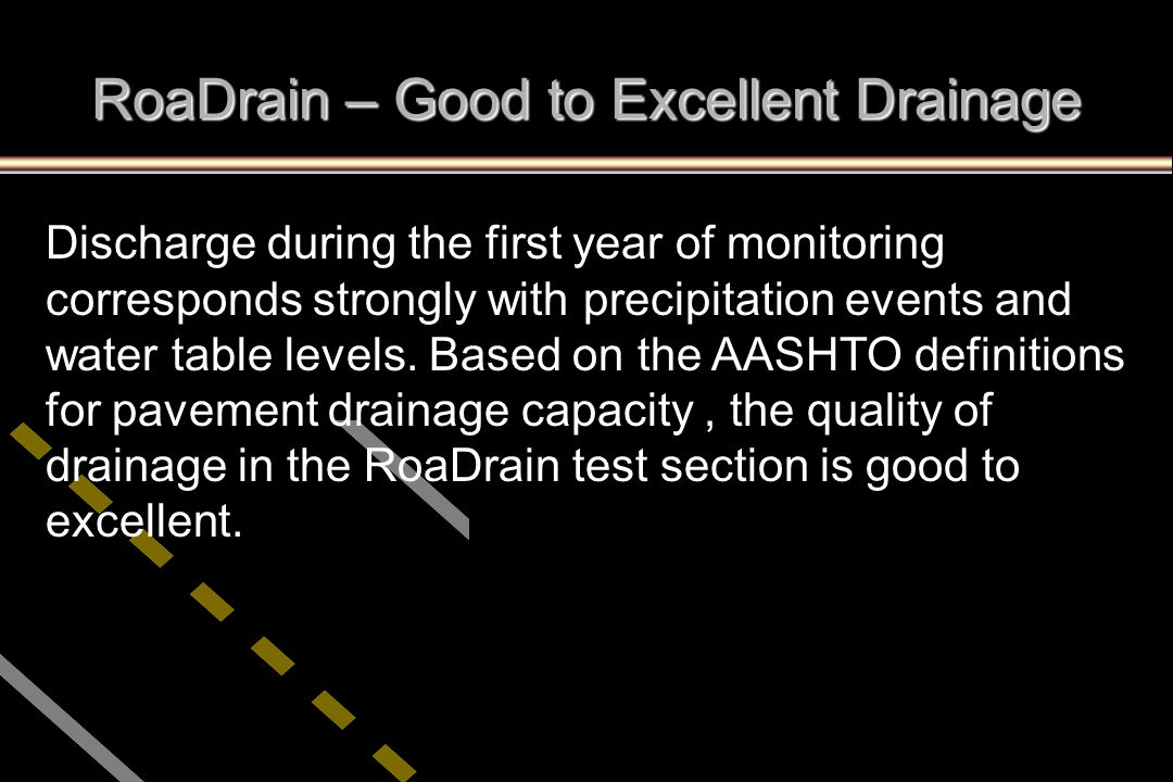 RoaDrain – Good to Excellent Drainage