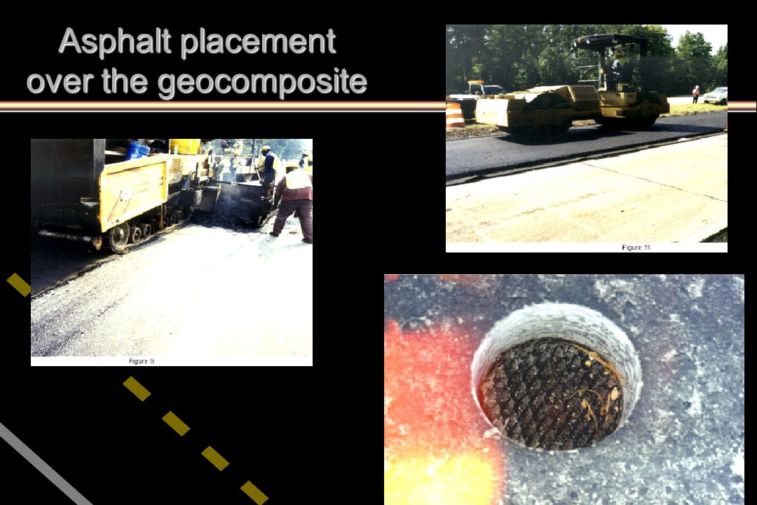 Asphalt placement over the geocomposite
