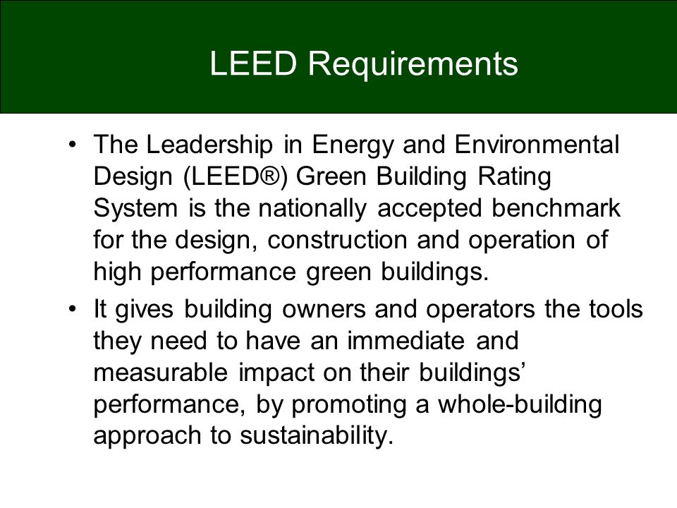 LEED Requirements