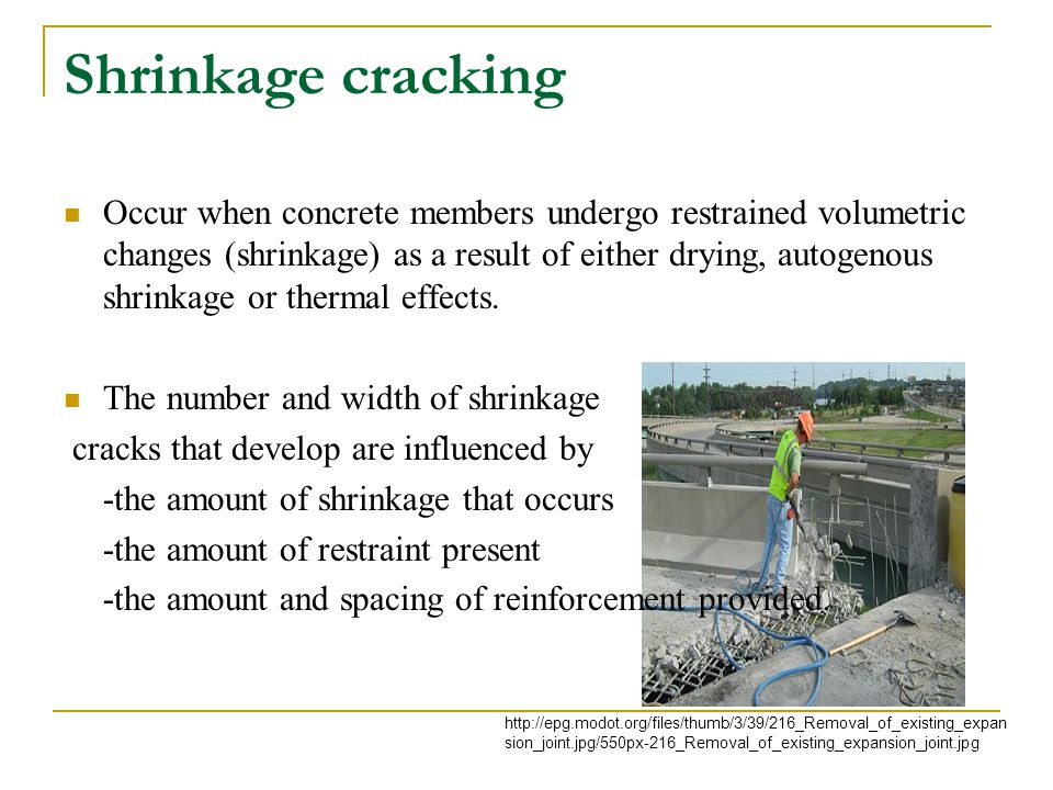 Shrinkage cracking
