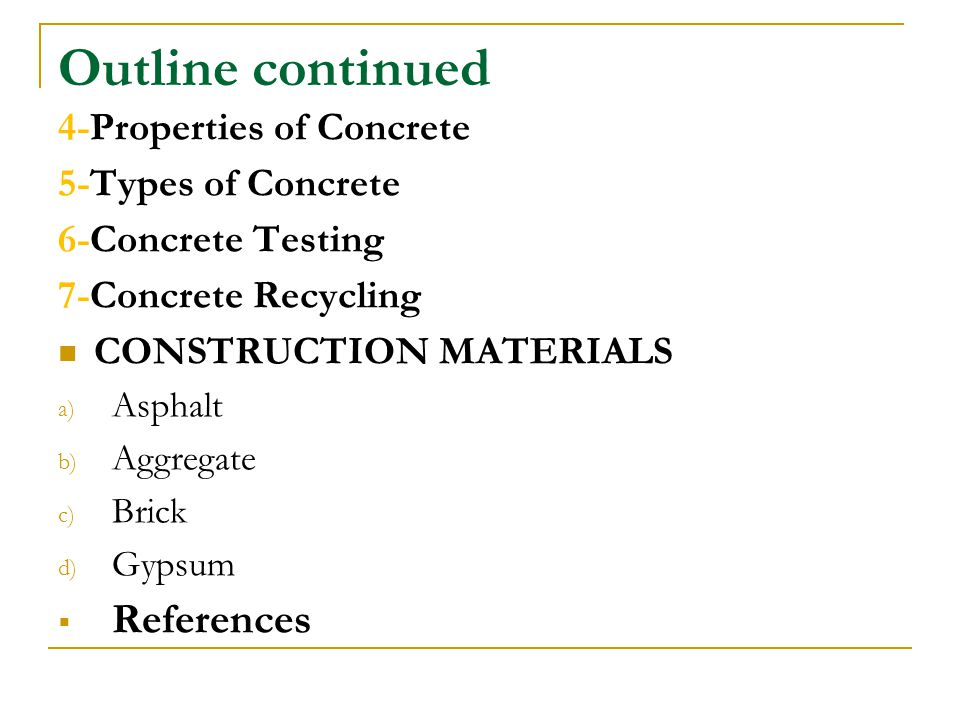 Properties Of Concrete : Construction materials and concrete ppt video online