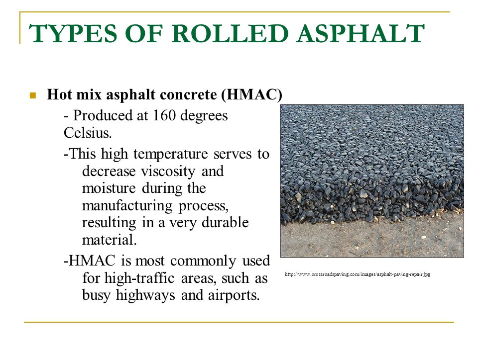 TYPES OF ROLLED ASPHALT